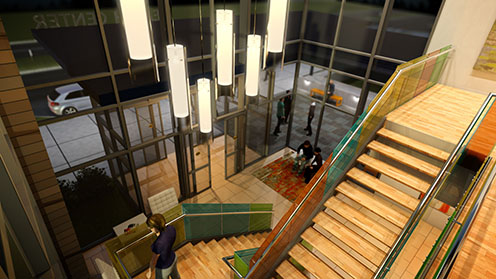 Image illustrates a workflow between Revit and 3ds Max Design