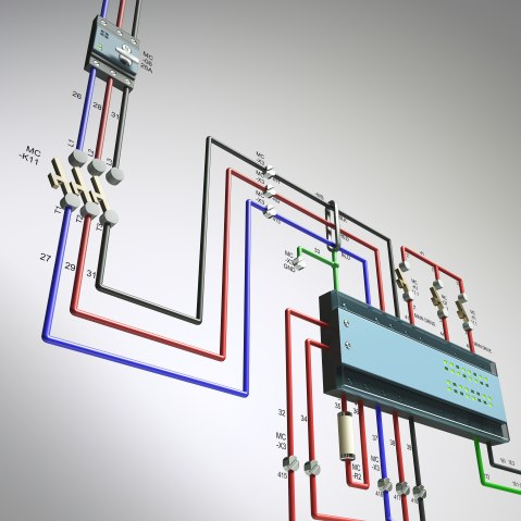 AutoCAD electrical 3D Render 3Ds Max